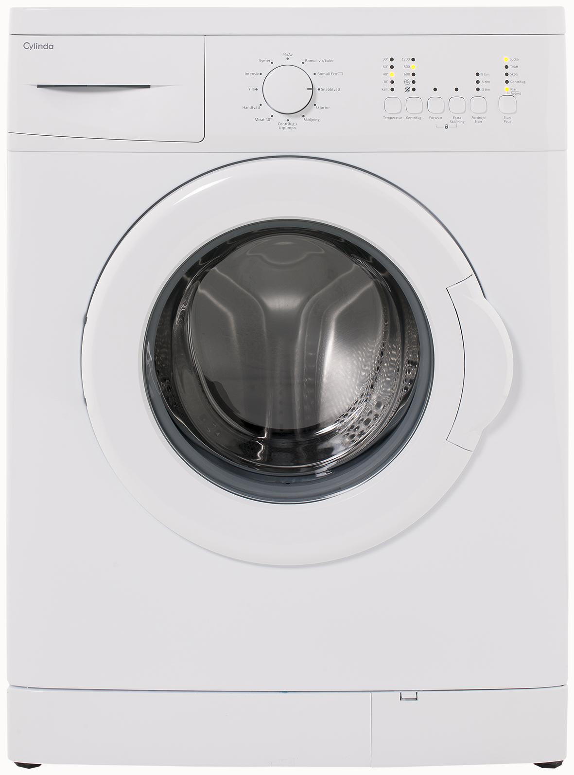Cylinda tvättmaskin tömmer inte vatten