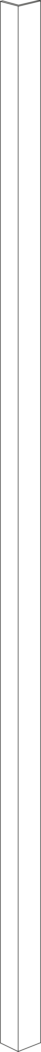 Sidolist S2/4 155 cm H/V. Vit